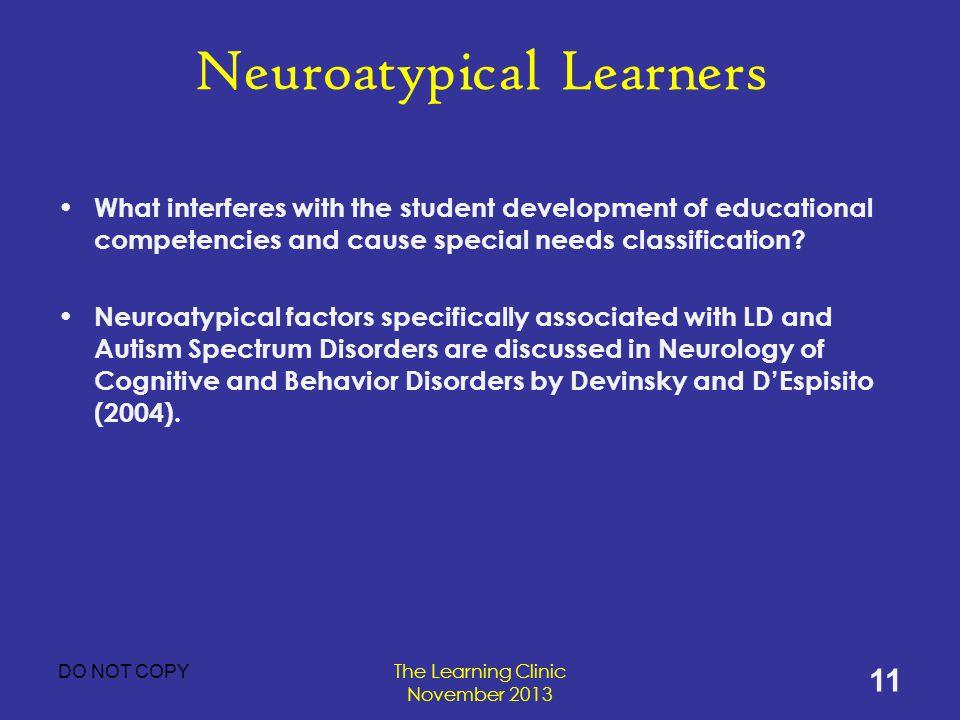 Neuroatypical Learners