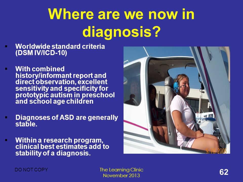 Where are we now in diagnosis