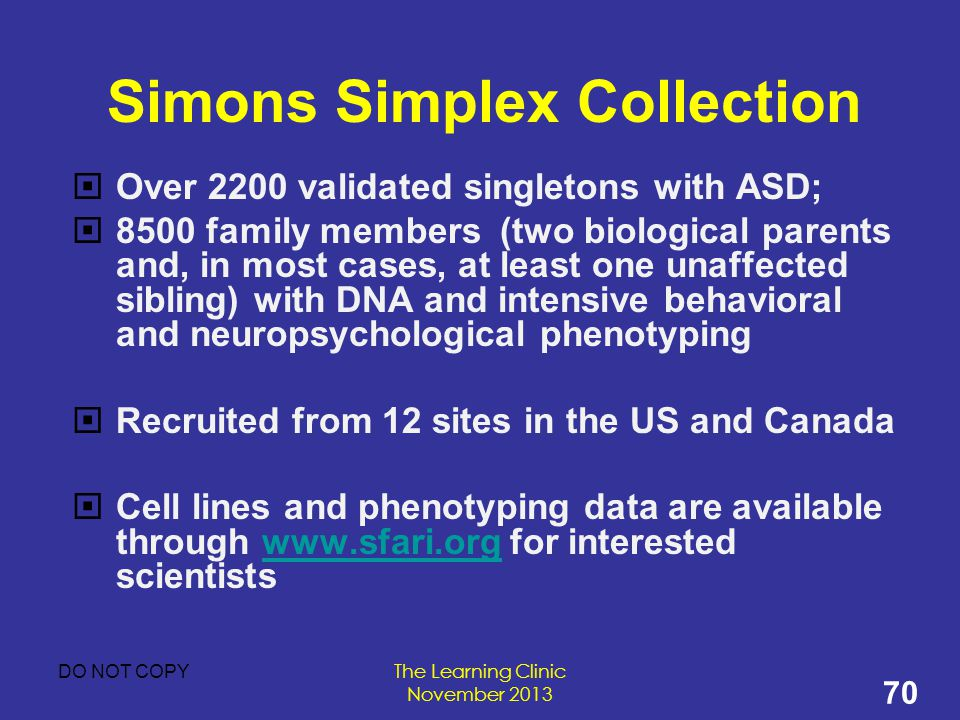 Simons Simplex Collection