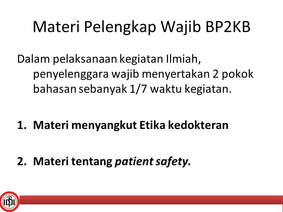 Materi Pelengkap Wajib BP2KB