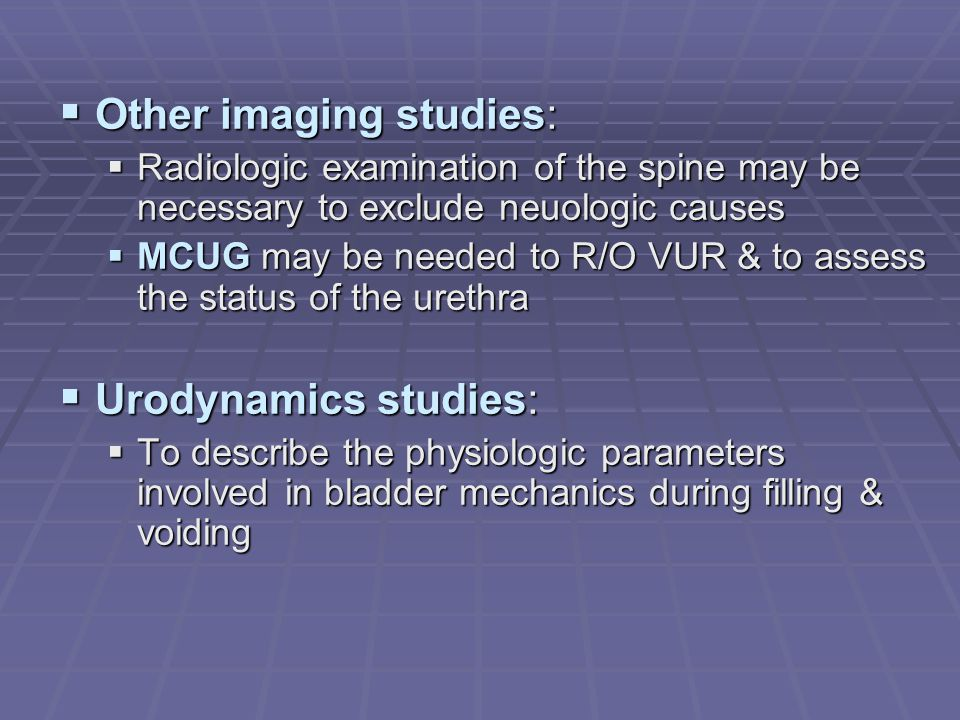 Other imaging studies: