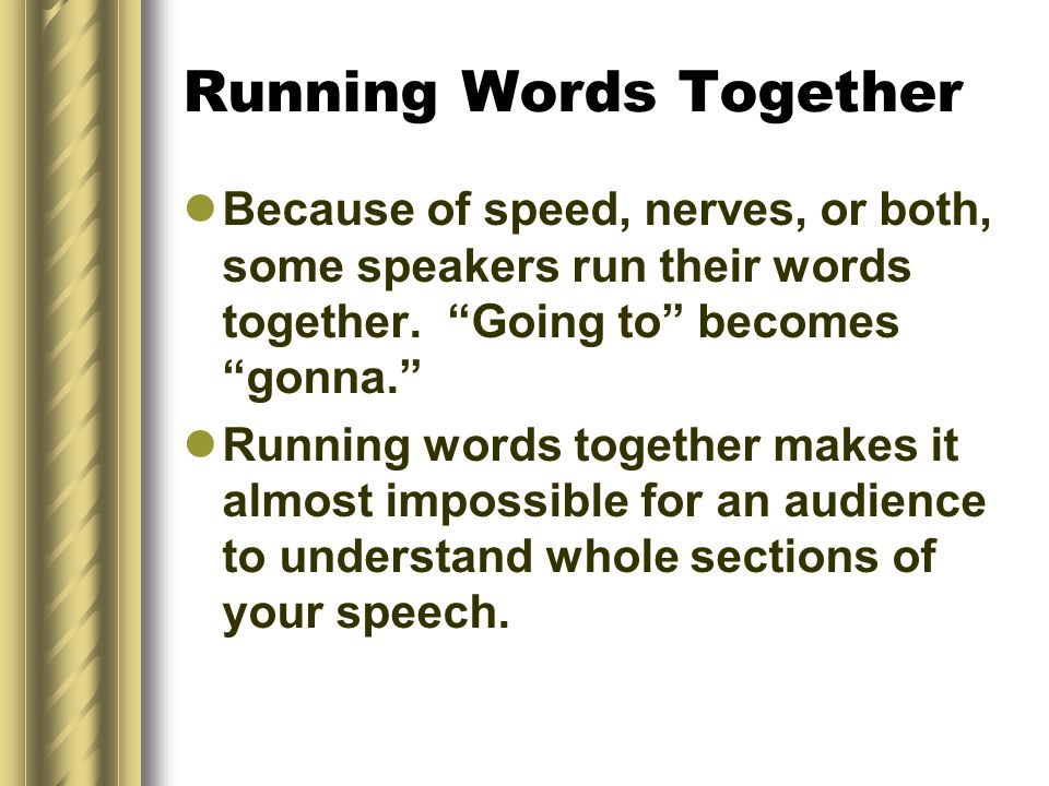 Running Words Together