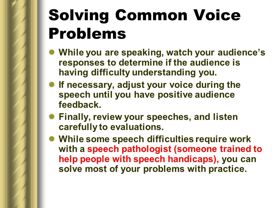 Solving Common Voice Problems