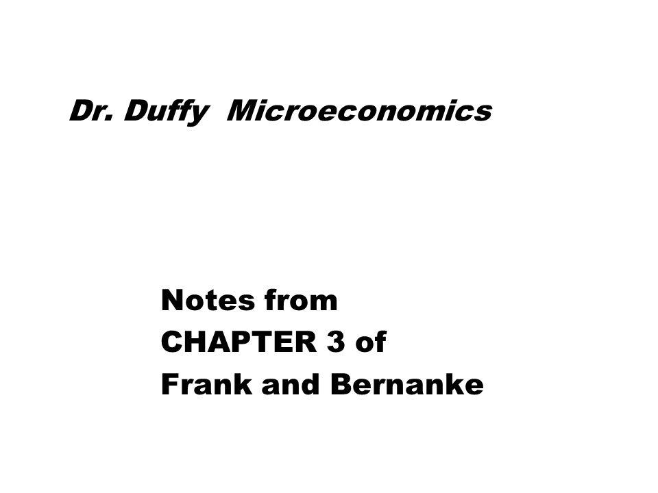 Dr. Duffy Microeconomics