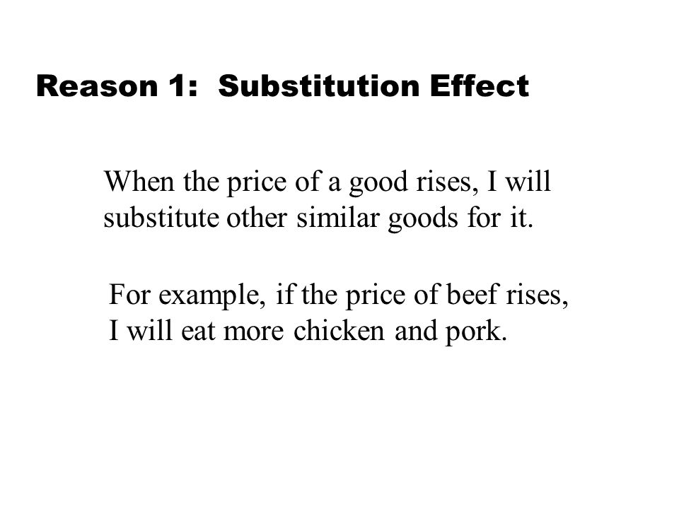 Reason 1: Substitution Effect
