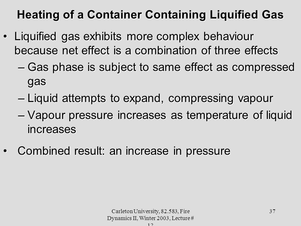 Heating of a Container Containing Liquified Gas