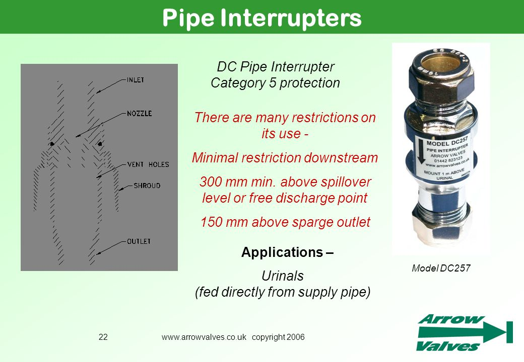 Pipe Interrupters DC Pipe Interrupter Category 5 protection