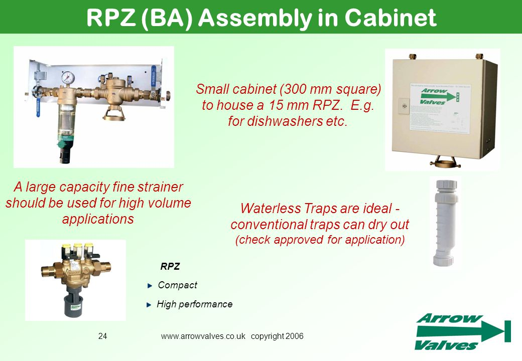 RPZ (BA) Assembly in Cabinet