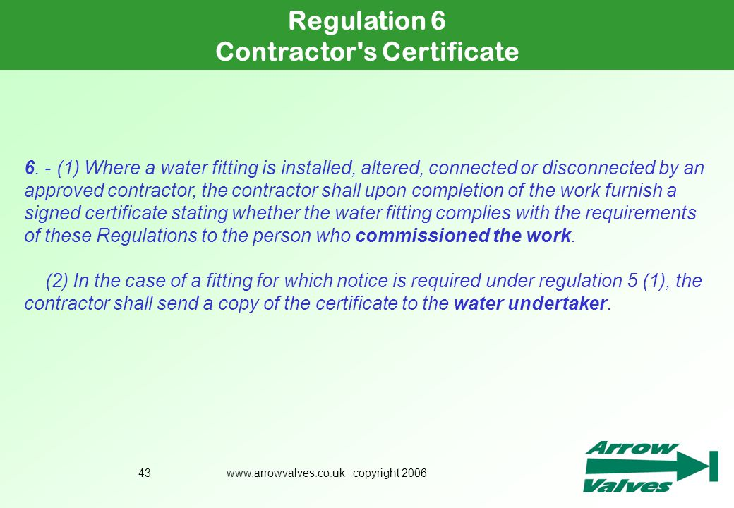 Contractor s Certificate