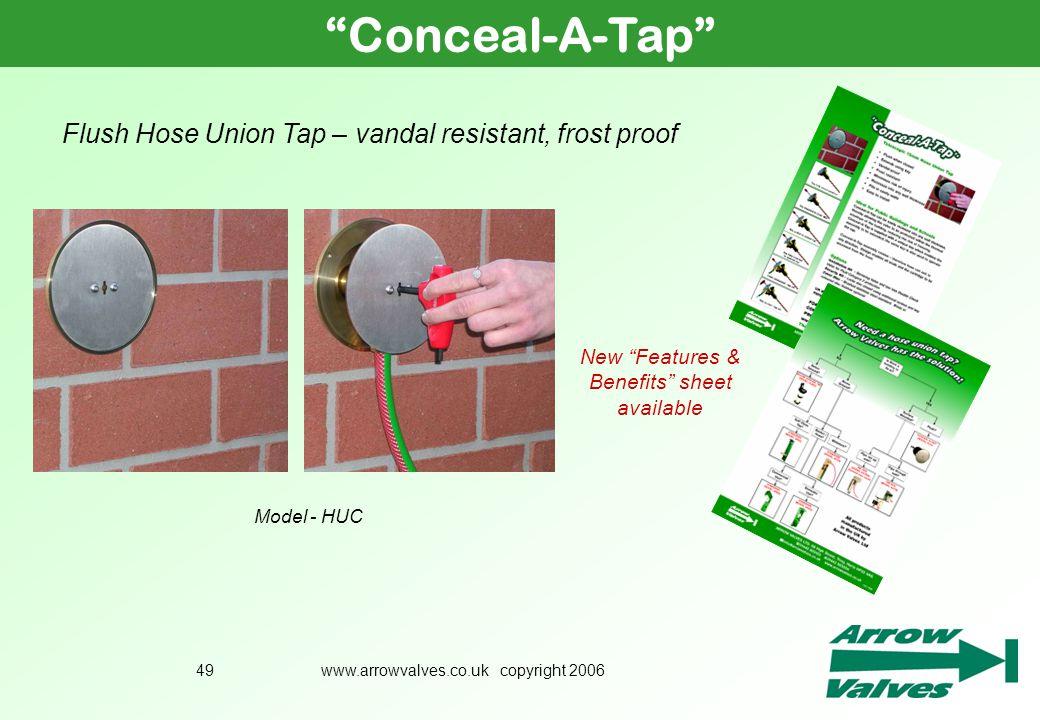 Conceal-A-Tap Flush Hose Union Tap – vandal resistant, frost proof