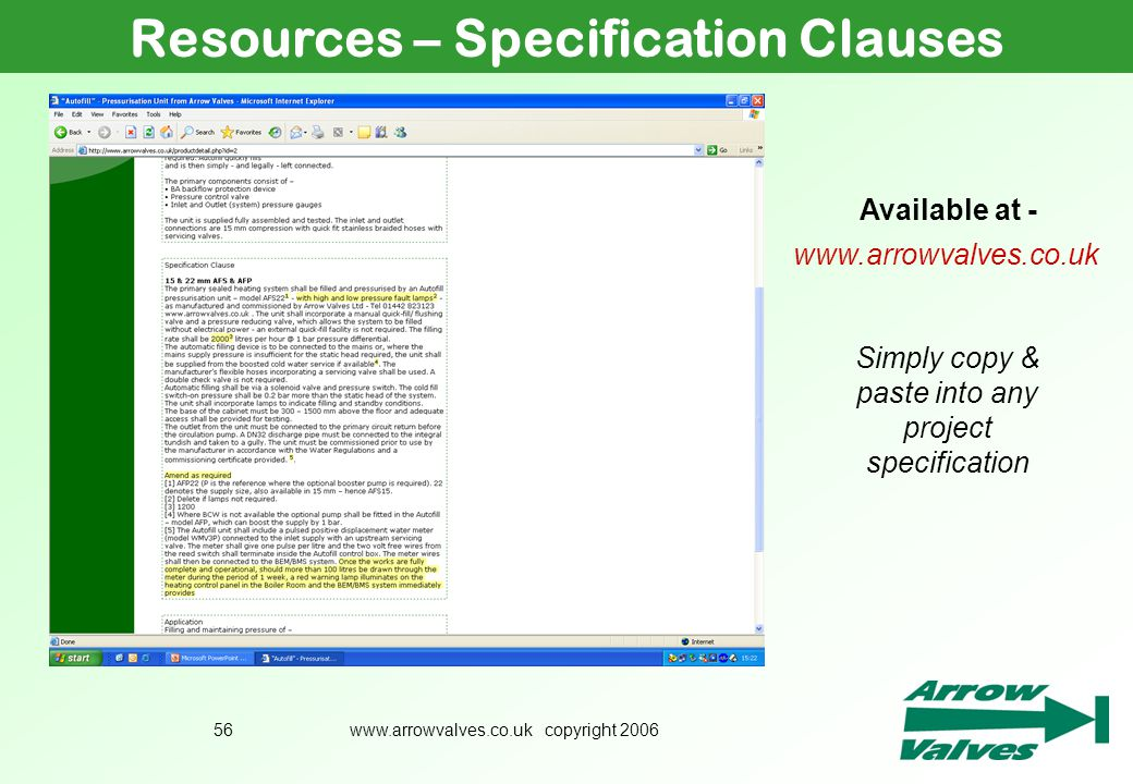 Resources – Specification Clauses