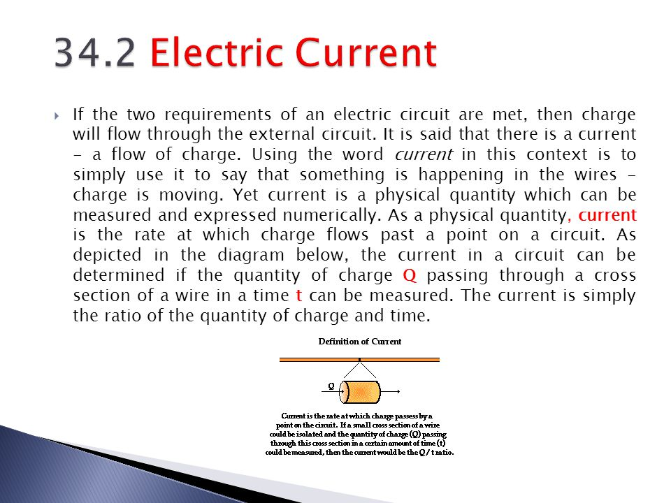 34.2 Electric Current