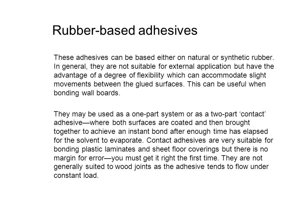 Rubber-based adhesives