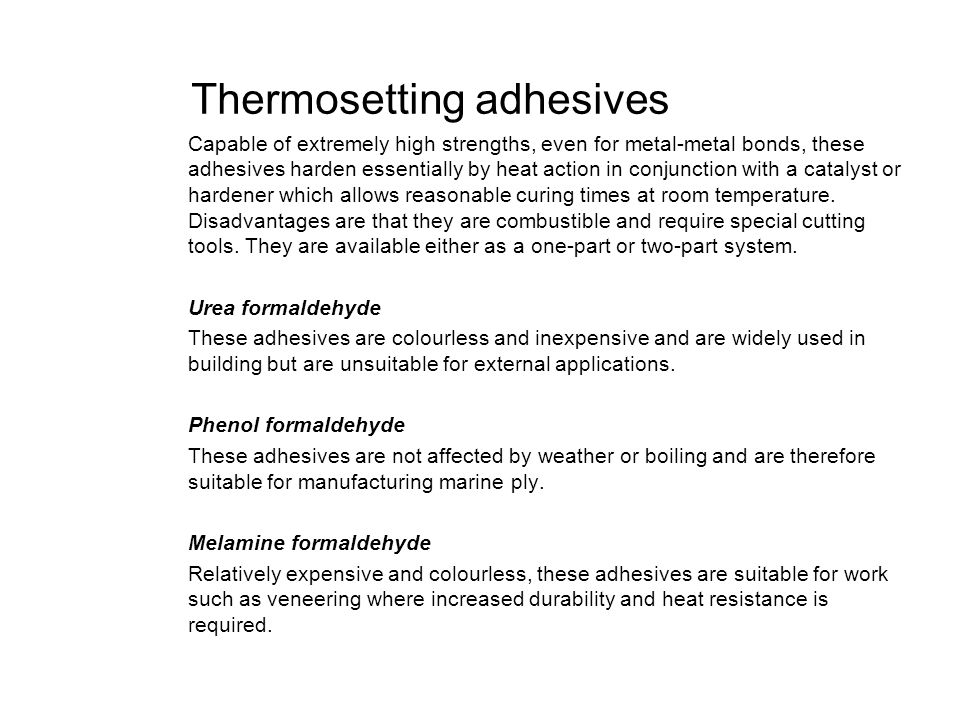 Thermosetting adhesives