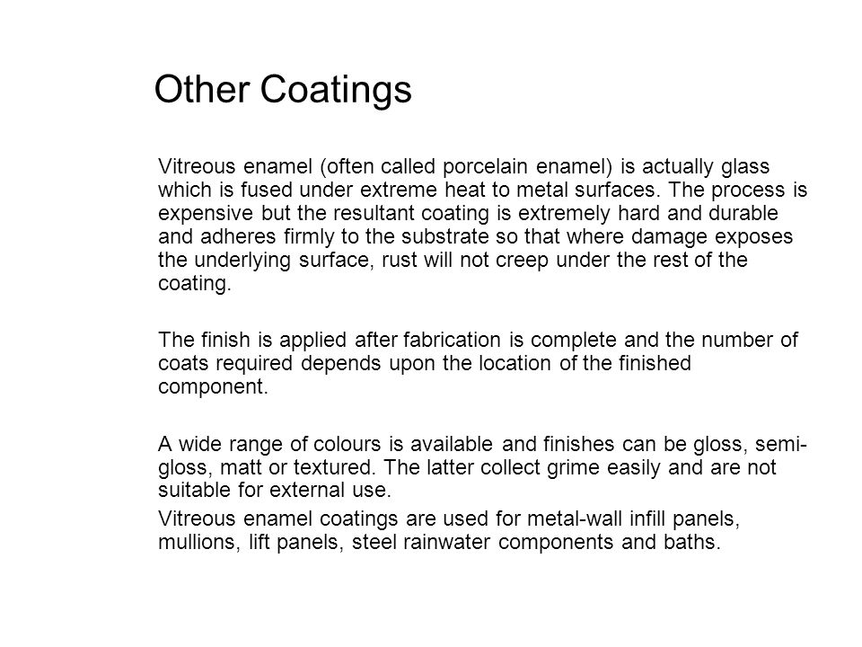 Other Coatings