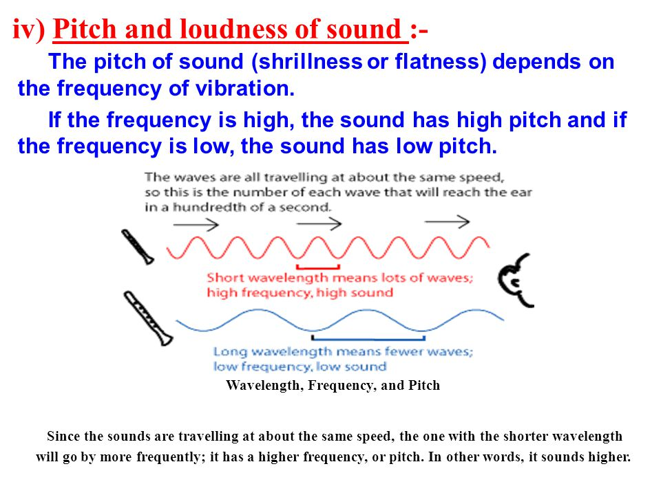 iv) Pitch and loudness of sound :-