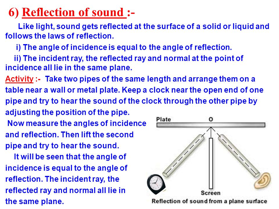 6) Reflection of sound :-