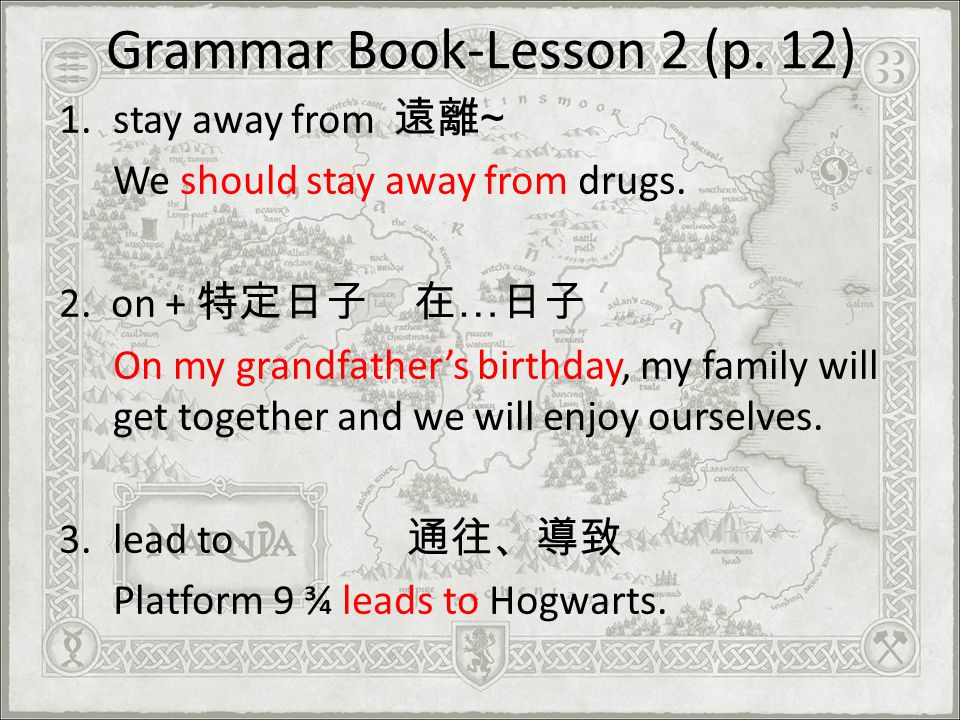 Grammar Book-Lesson 2 (p. 12)