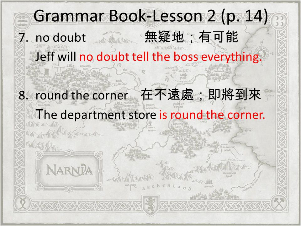 Grammar Book-Lesson 2 (p. 14)