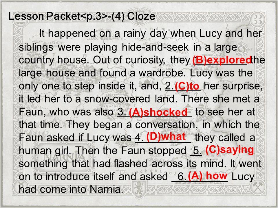 Lesson Packet<p.3>-(4) Cloze