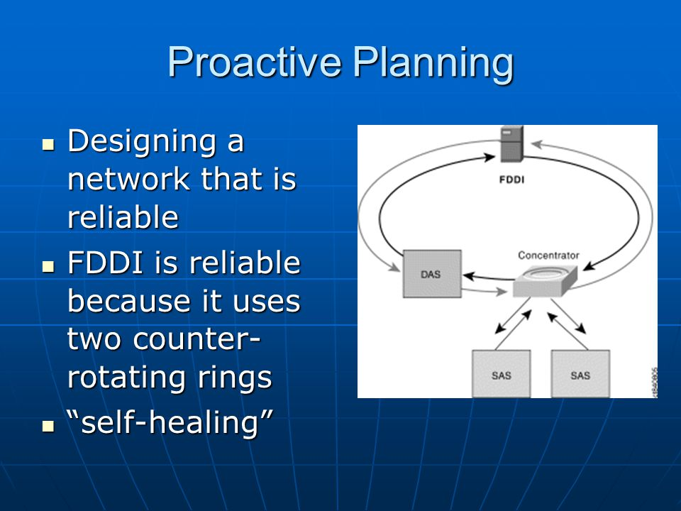Proactive Planning Designing a network that is reliable