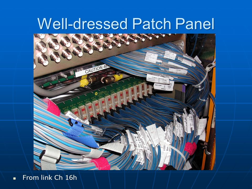 Well-dressed Patch Panel