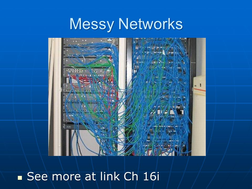 Messy Networks See more at link Ch 16i