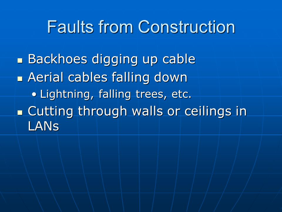 Faults from Construction