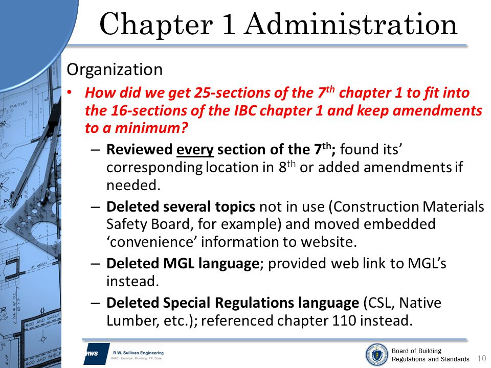 Chapter 1 Administration