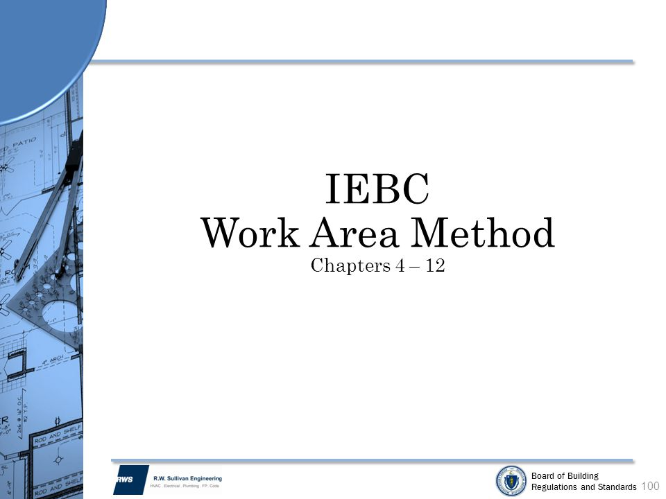 Work Area Method Chapters 4 – 12