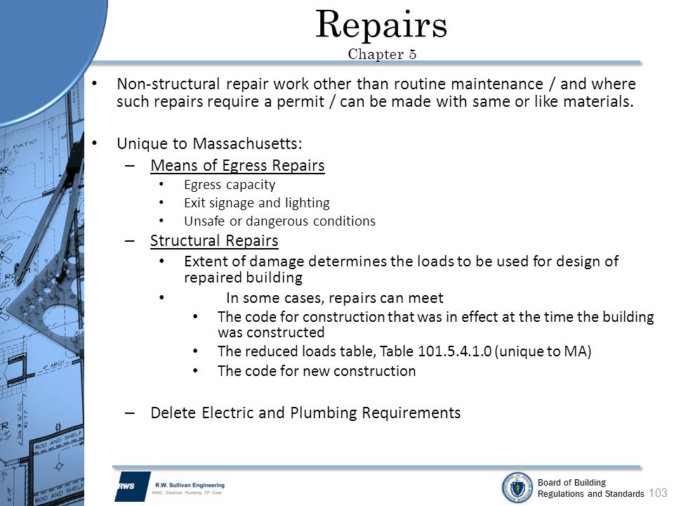 Repairs Chapter 5