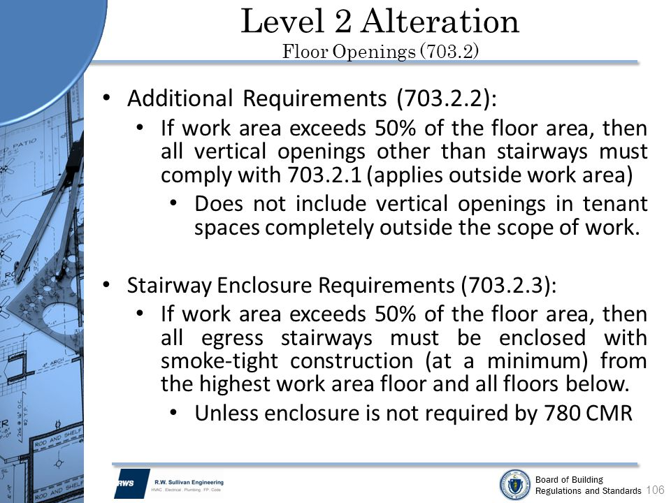 Level 2 Alteration Floor Openings (703.2)
