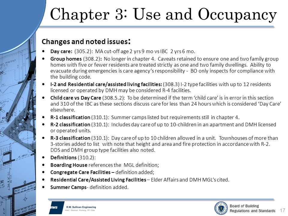 Chapter 3: Use and Occupancy