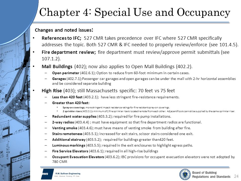 Chapter 4: Special Use and Occupancy
