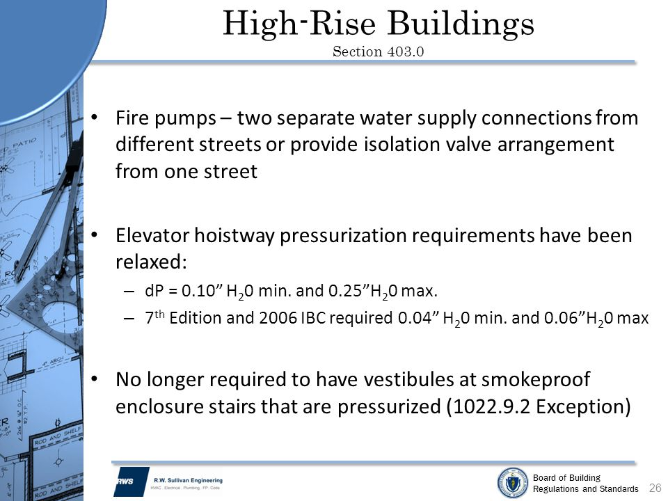 High-Rise Buildings Section 403.0