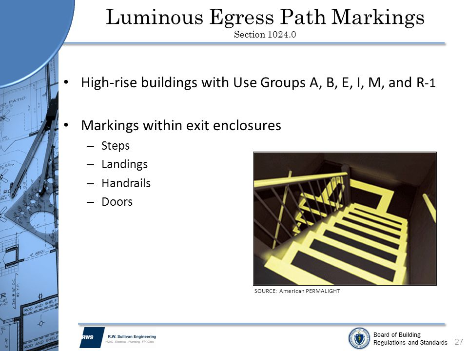 Luminous Egress Path Markings Section 1024.0