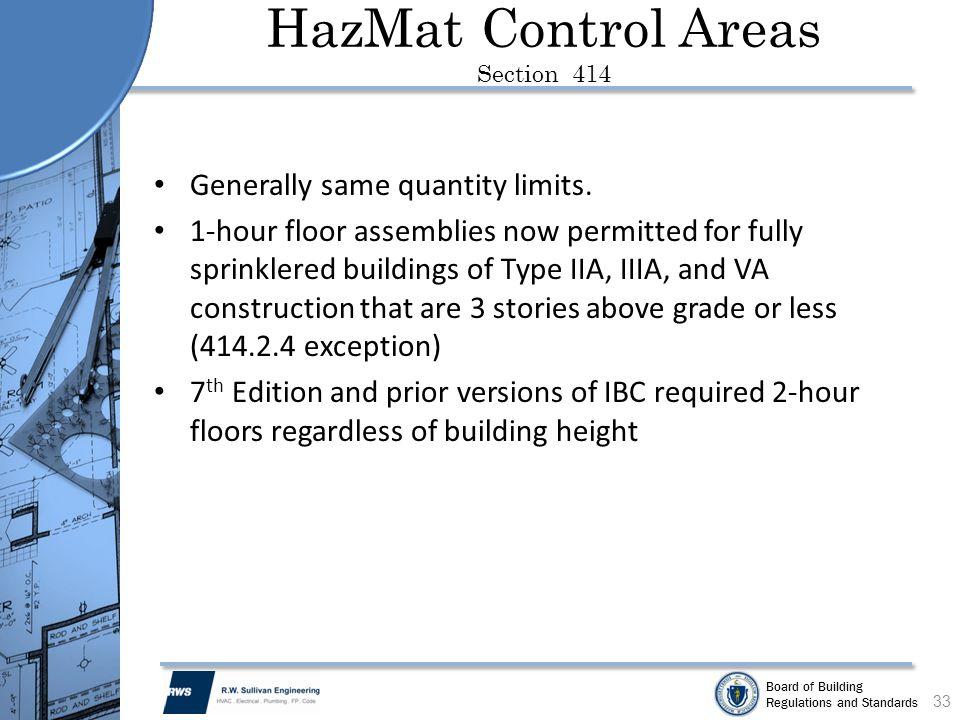 HazMat Control Areas Section 414