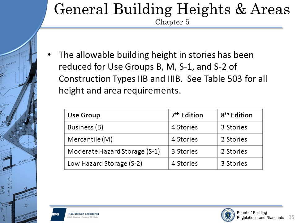 General Building Heights & Areas Chapter 5
