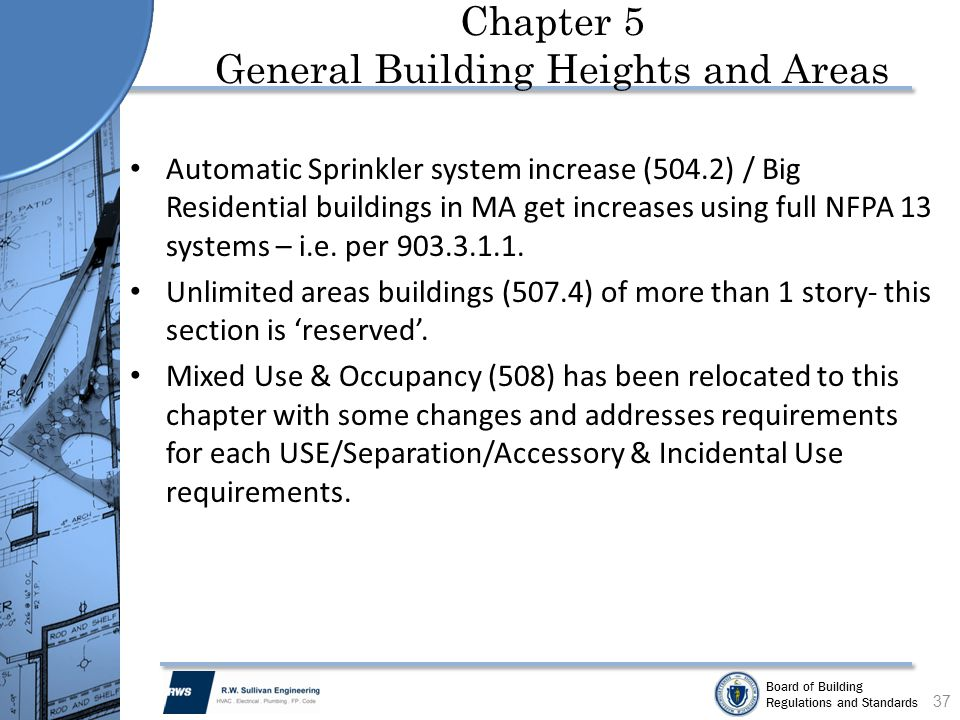 Chapter 5 General Building Heights and Areas