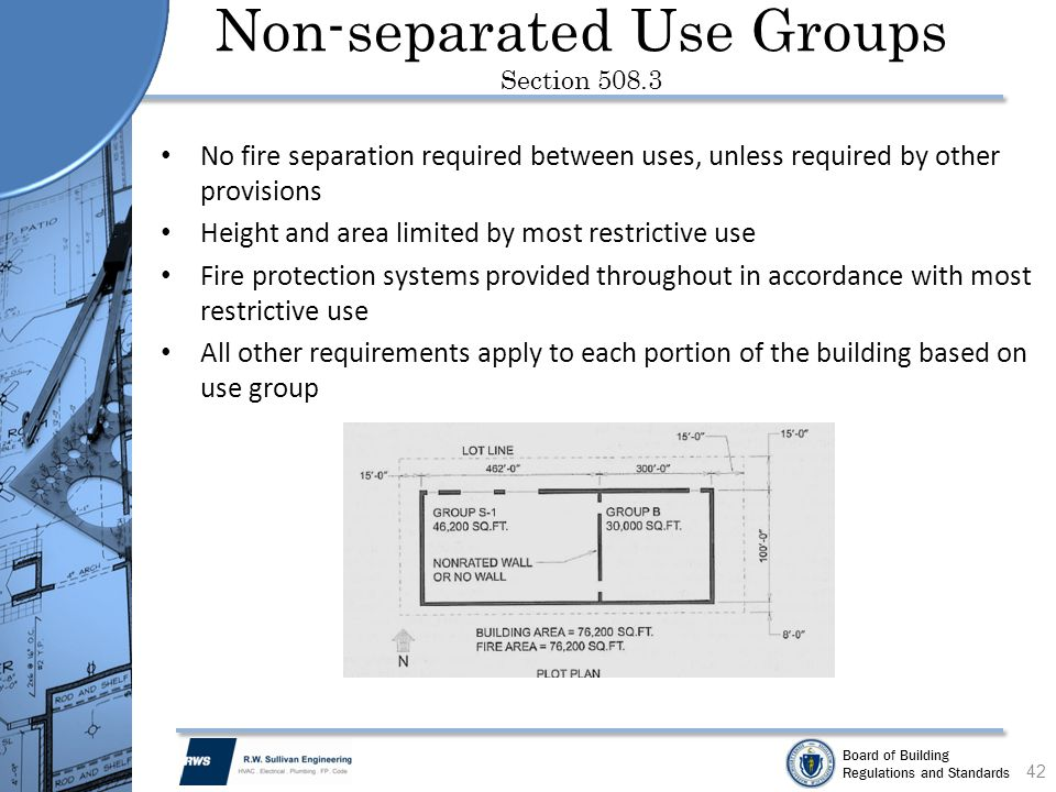 Non-separated Use Groups Section 508.3