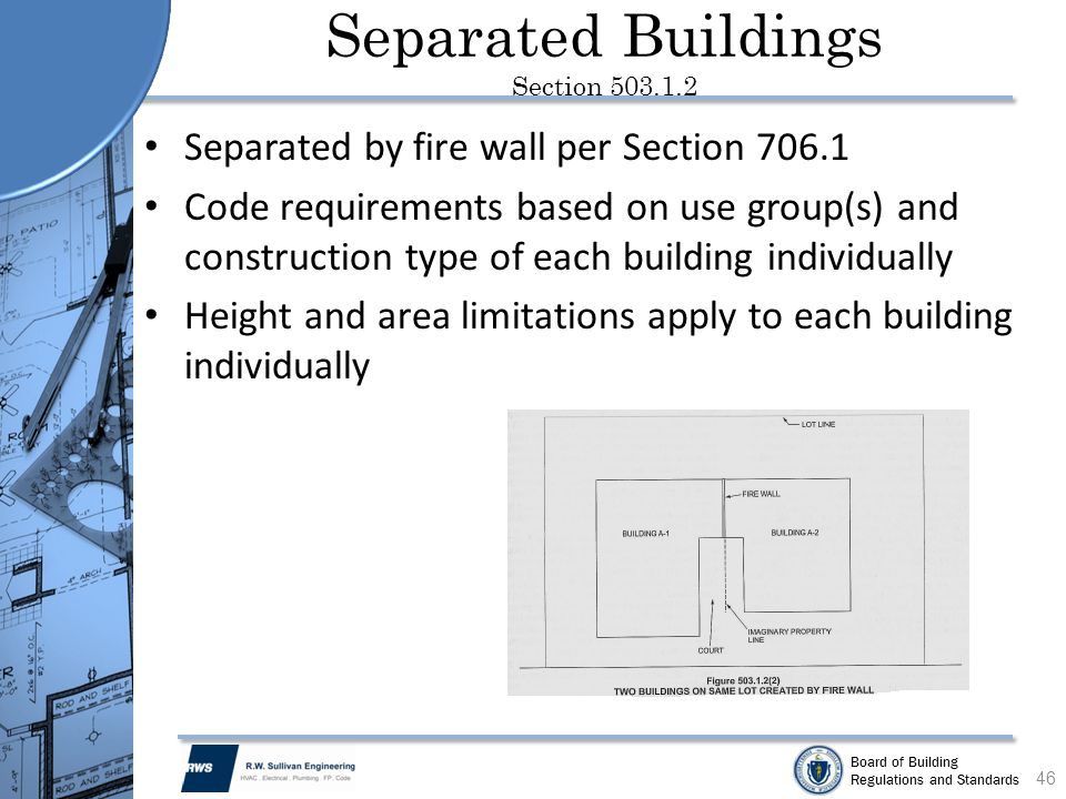 Separated Buildings Section 503.1.2