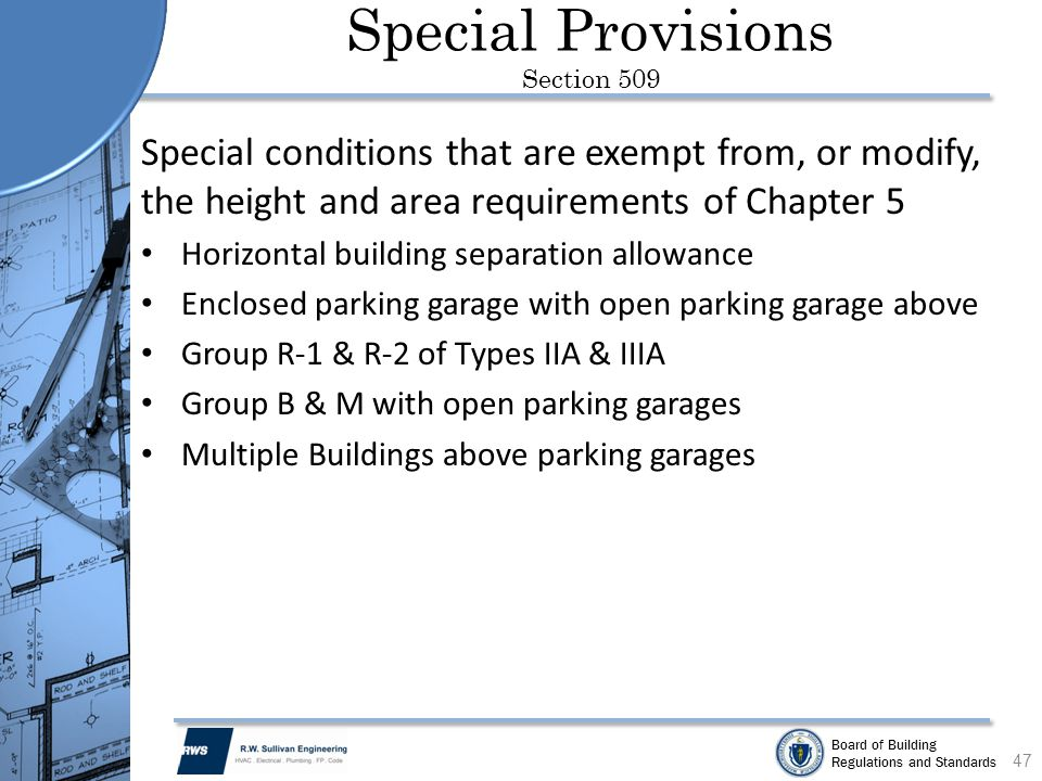 Special Provisions Section 509