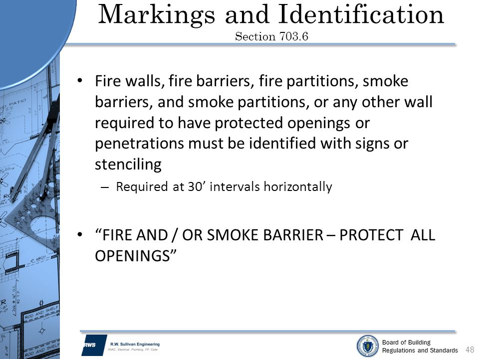 Markings and Identification Section 703.6