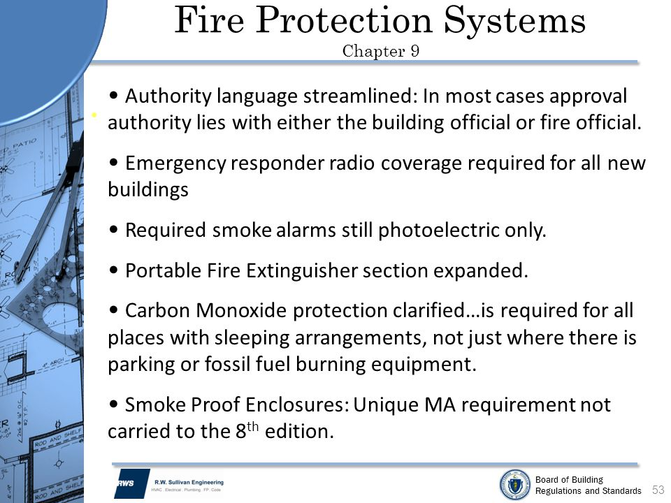 Fire Protection Systems Chapter 9