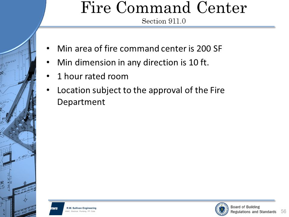 Fire Command Center Section 911.0