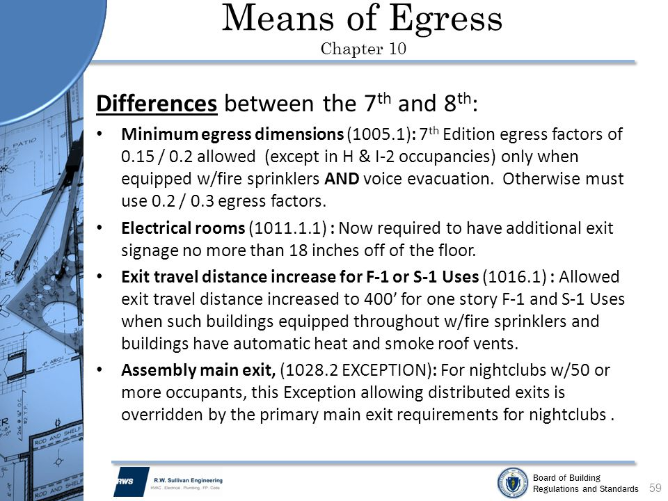 Means of Egress Chapter 10