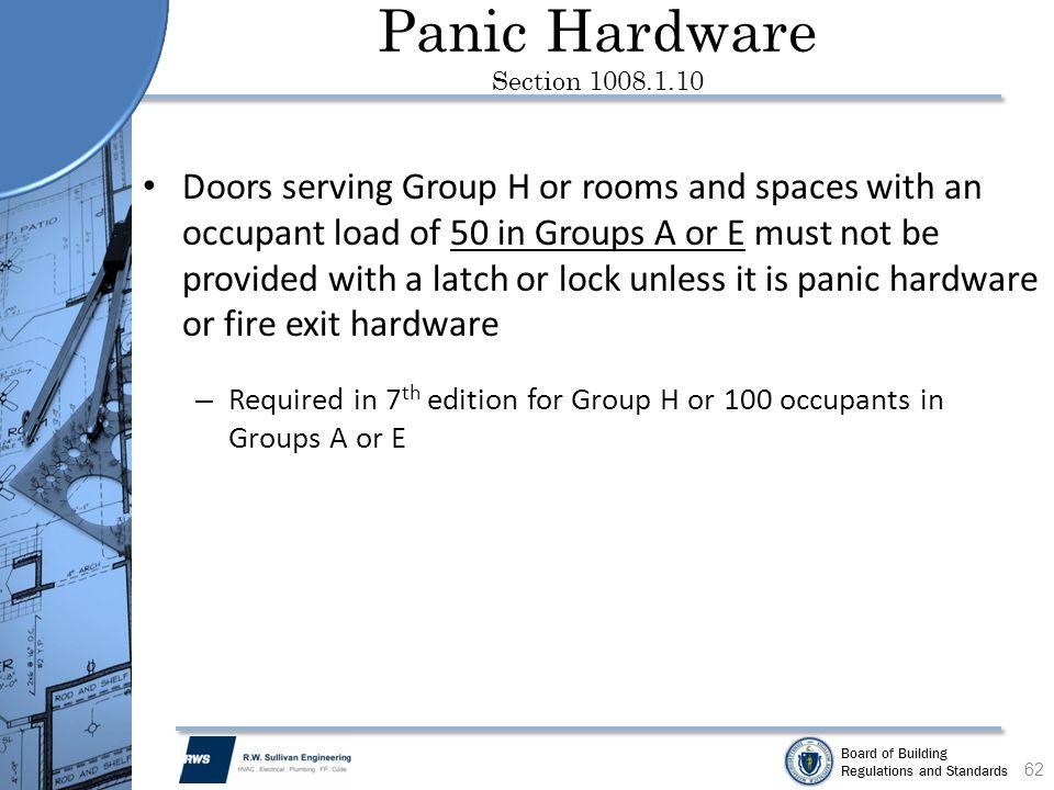 Panic Hardware Section 1008.1.10