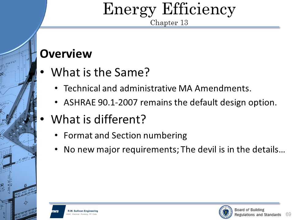 Energy Efficiency Chapter 13