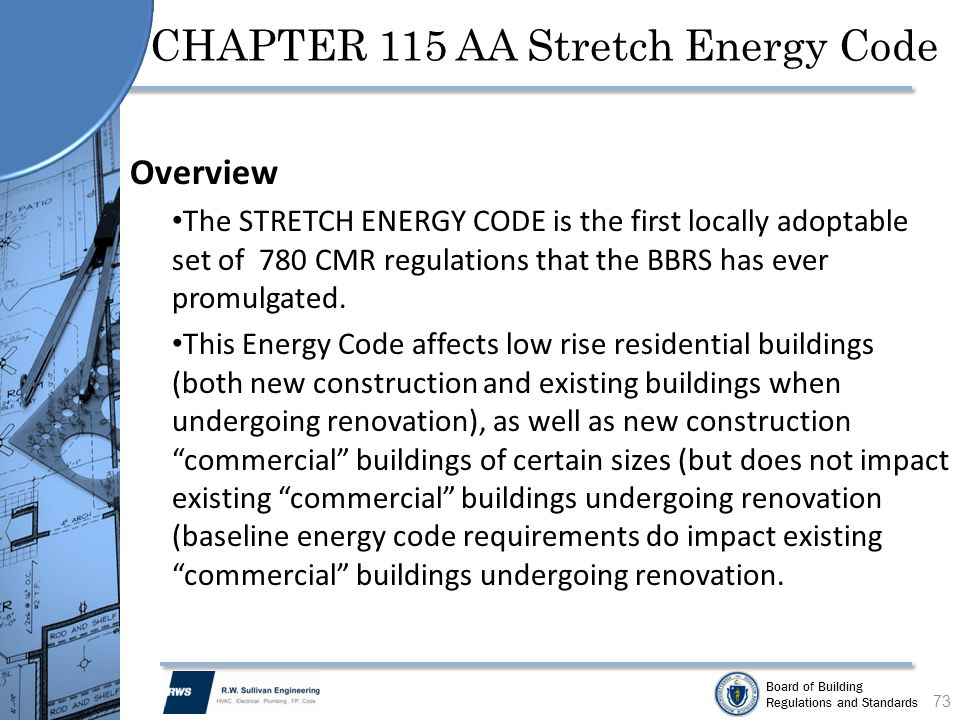 CHAPTER 115 AA Stretch Energy Code