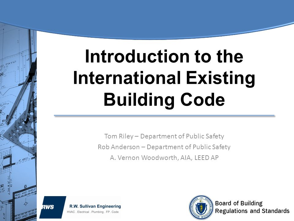 Introduction to the International Existing Building Code